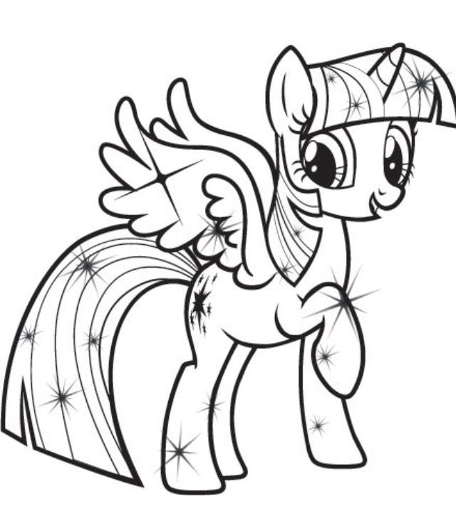 twilight sparkle coloring page -
