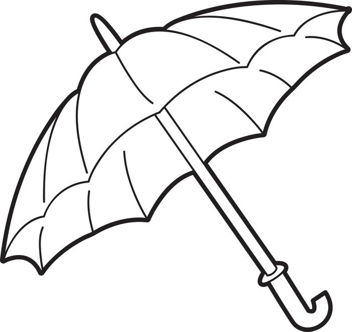 umbrella coloring page - q=u is for umbrella