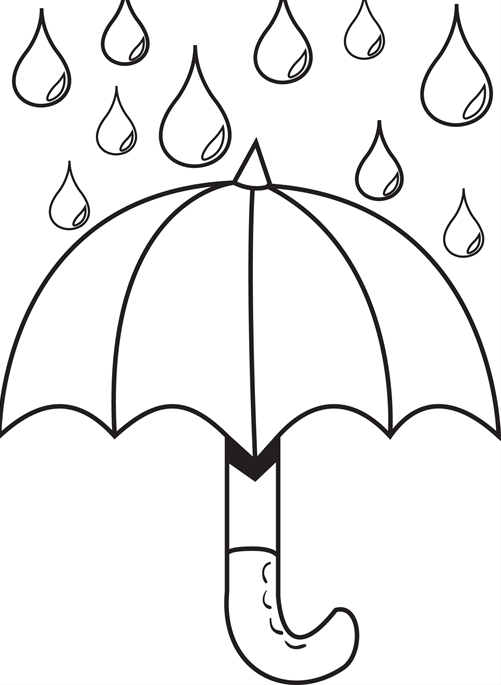 24 umbrella coloring page collections free coloring pages part 2 - Umbrella Coloring Pages 2