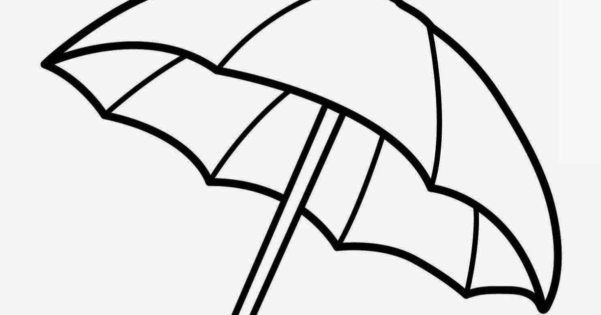 umbrella coloring page - free printable umbrella coloring pages