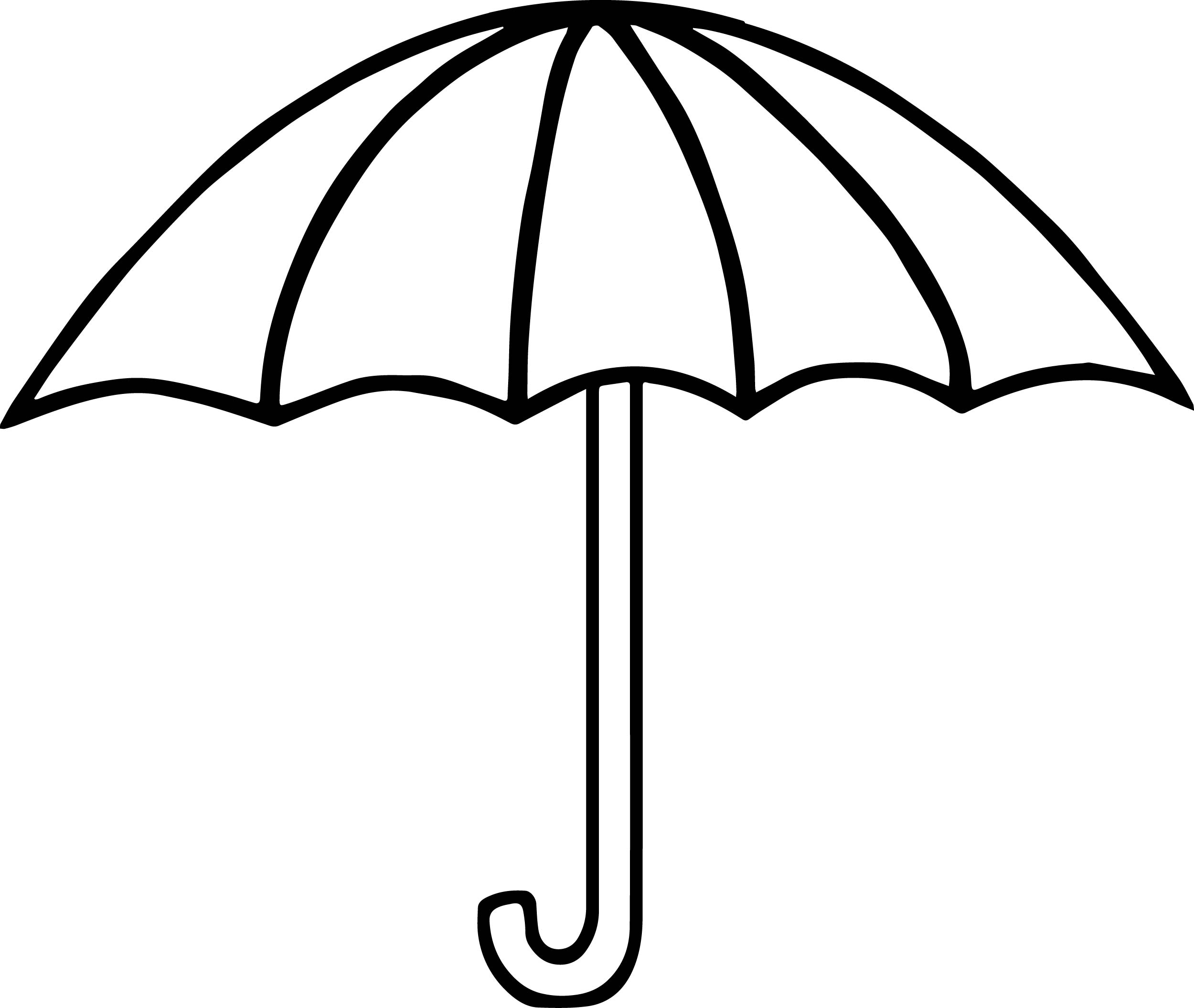 umbrella coloring page - summer umbrella coloring page