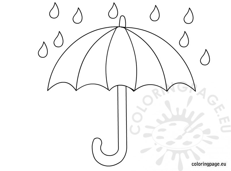 umbrella coloring page - s=sun umbrella