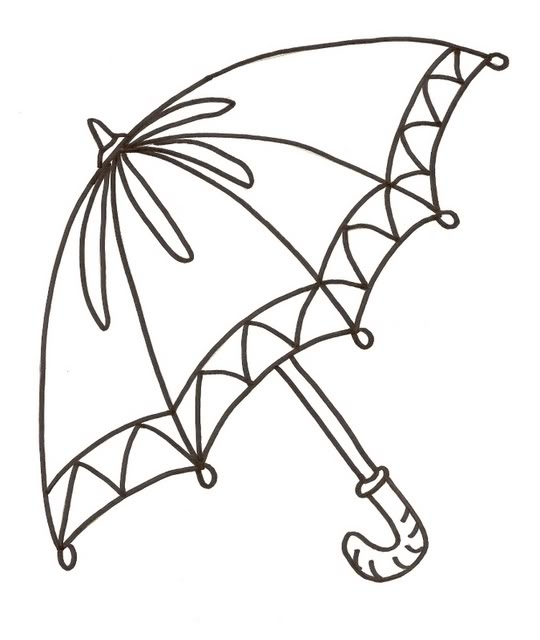 umbrella coloring page - umbrella coloring pages 11