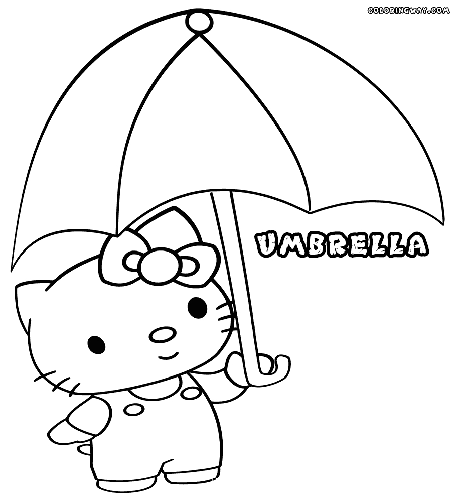 24 Umbrella Coloring Page Collections FREE COLORING PAGES Part 3
