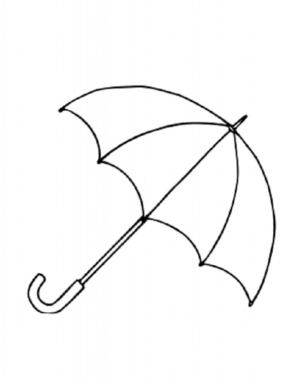 umbrella coloring page - 2