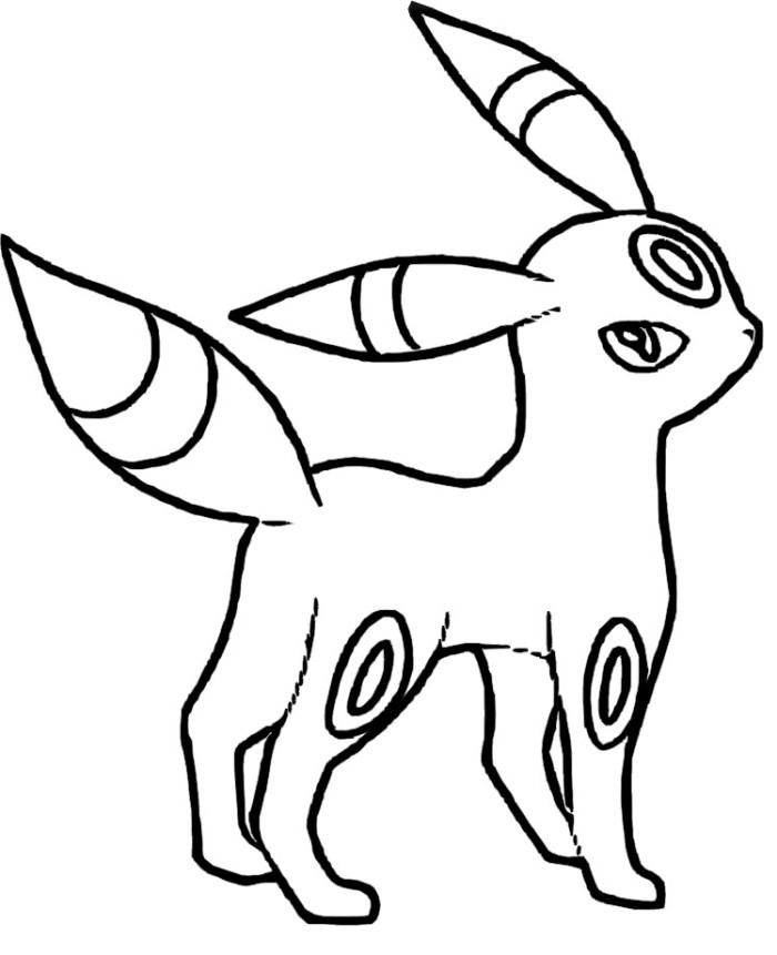 umbreon coloring pages - all pokemon coloring pages