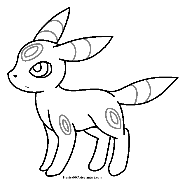 28 Umbreon Coloring Pages Pictures | FREE COLORING PAGES - Part 2
