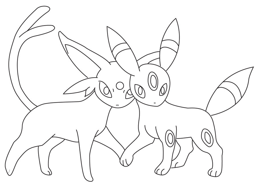 umbreon coloring pages - pokemon umbreon coloring pages