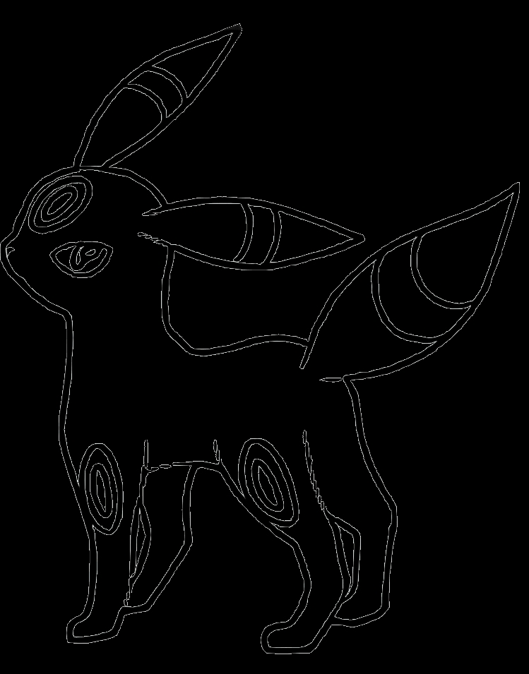 umbreon coloring pages - pokemon umbreon coloring pages images