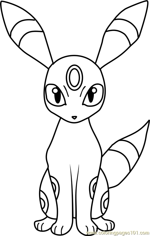 umbreon coloring pages - umbreon pokemon coloring page