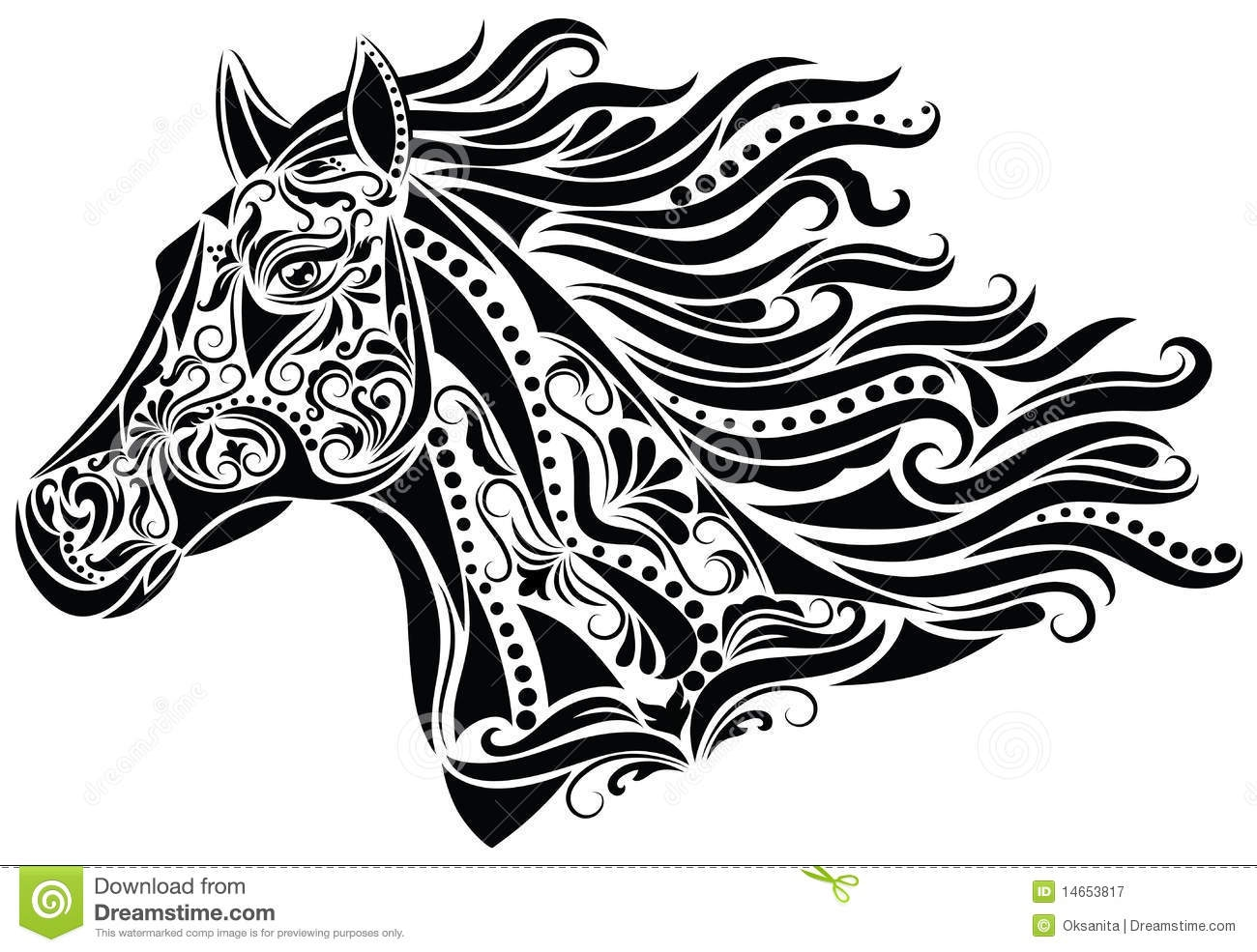 unicorn coloring pages for adults - royalty vrije stock fotografie abstract paard image