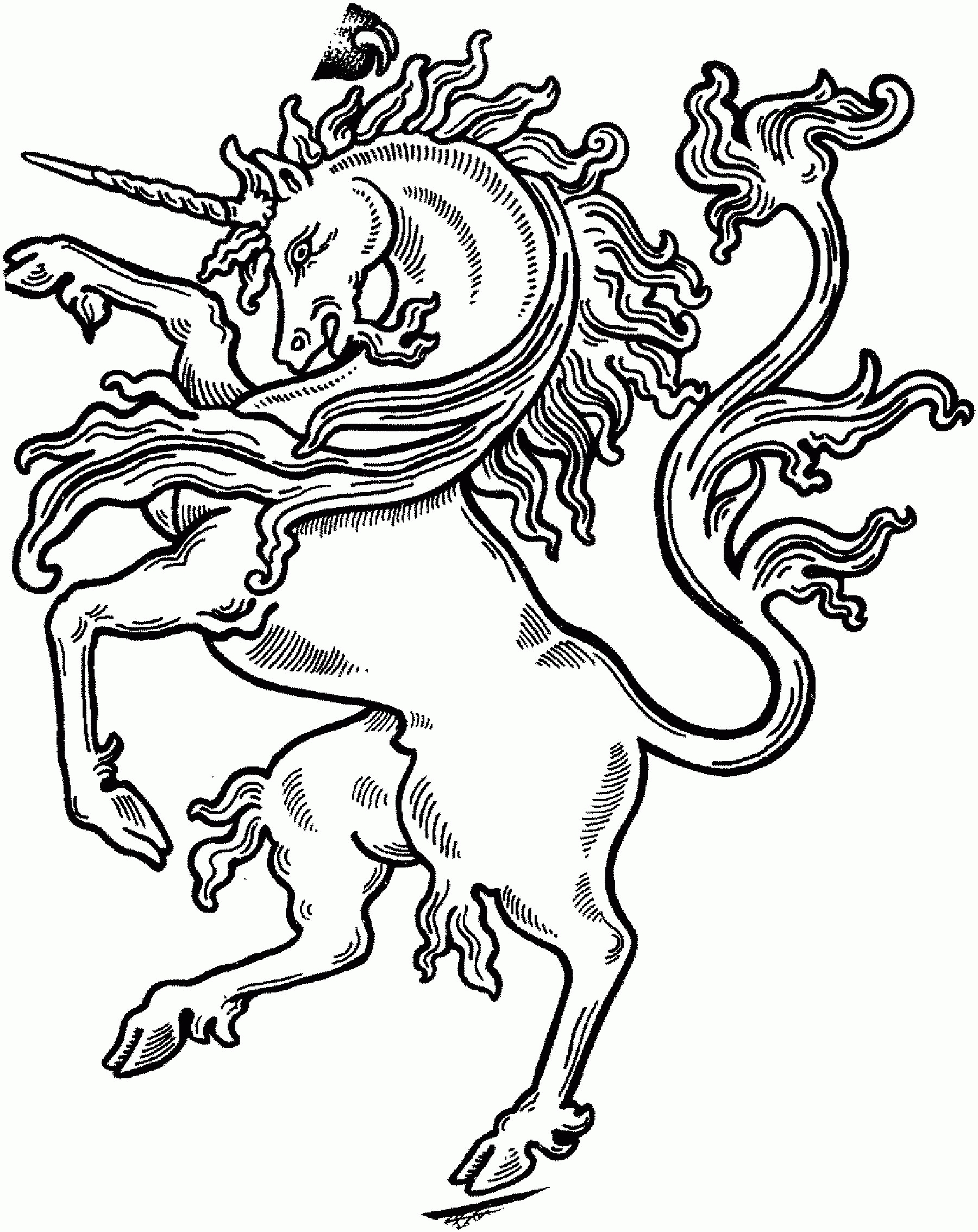 Unicorn Coloring Pages - Coloring Pages Magic Unicorn Coloring Page Contemplative