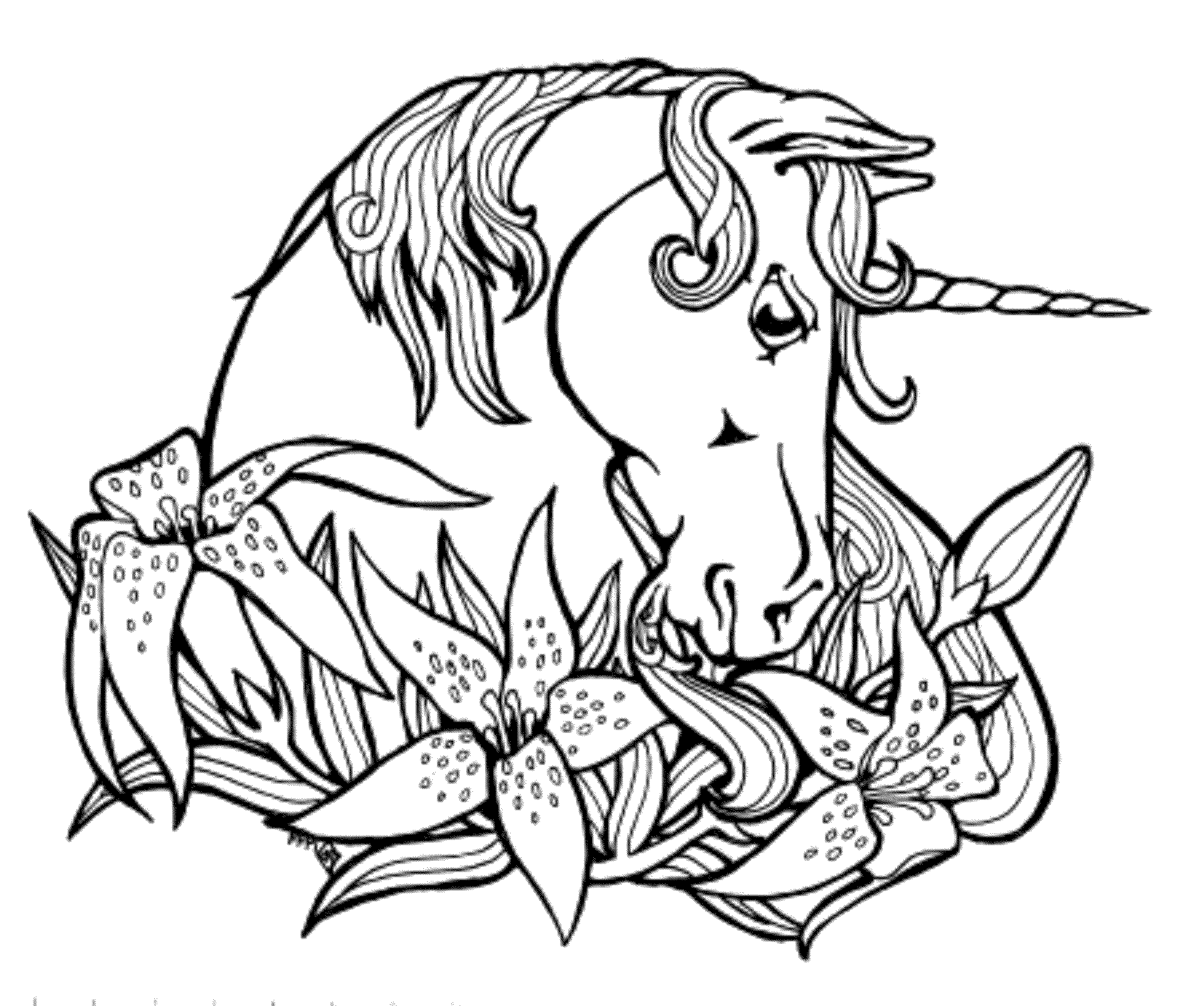 unicorn coloring pages - coloring suite pages 2210