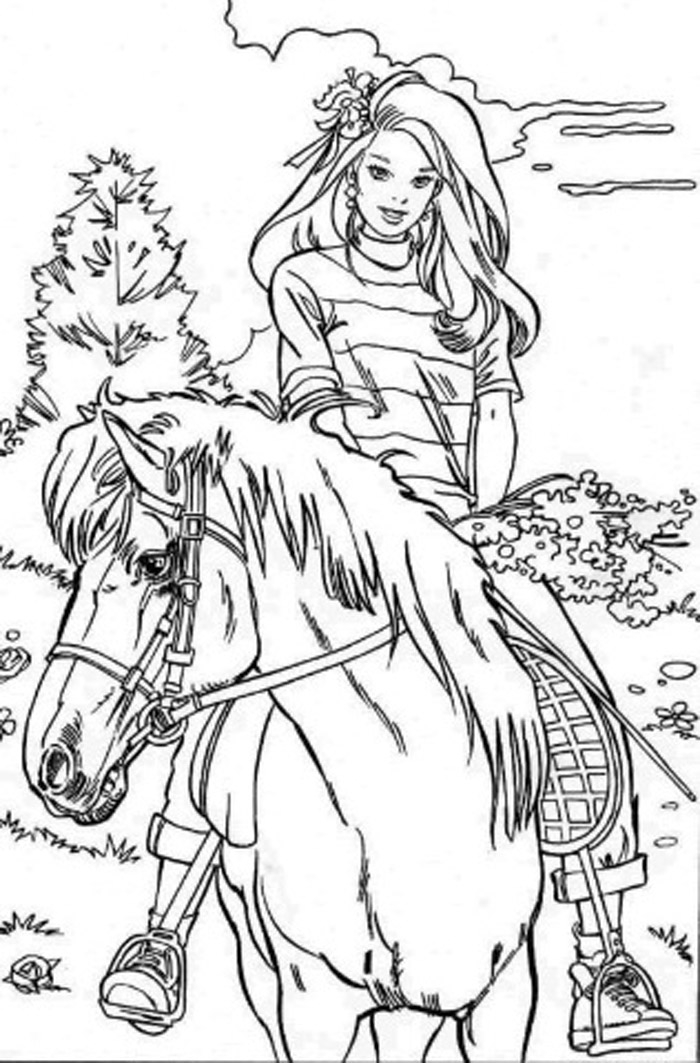 unicorn coloring pages - konj 9