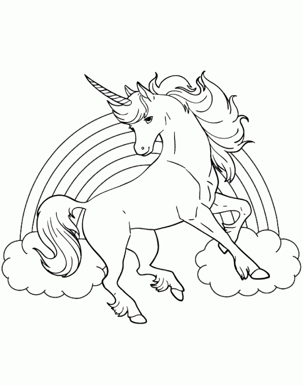 unicorn rainbow coloring pages -