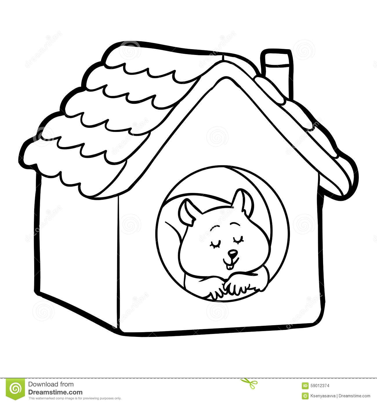 united states coloring page - stock illustration coloring book children hamster house image