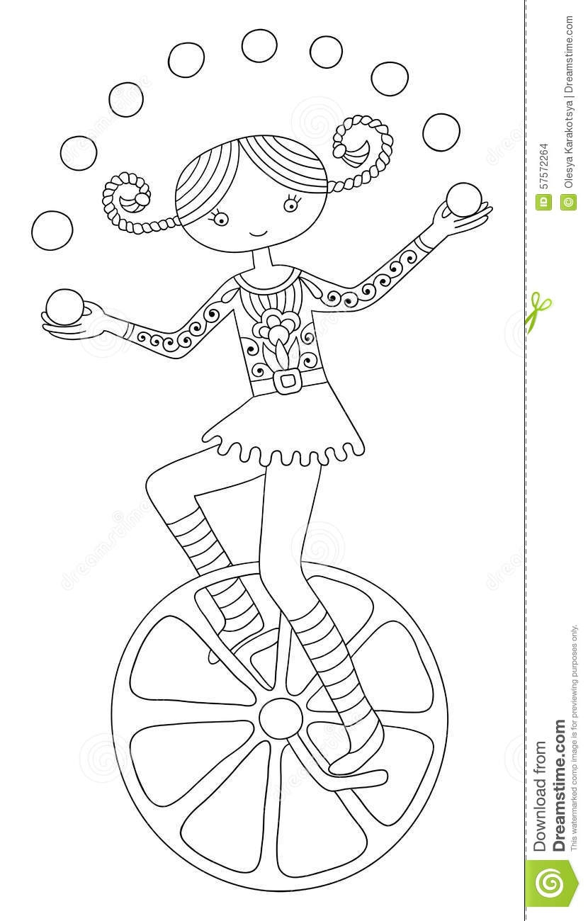 united states coloring page - illustration stock illustration de schéma du thème de cirque adolescent image