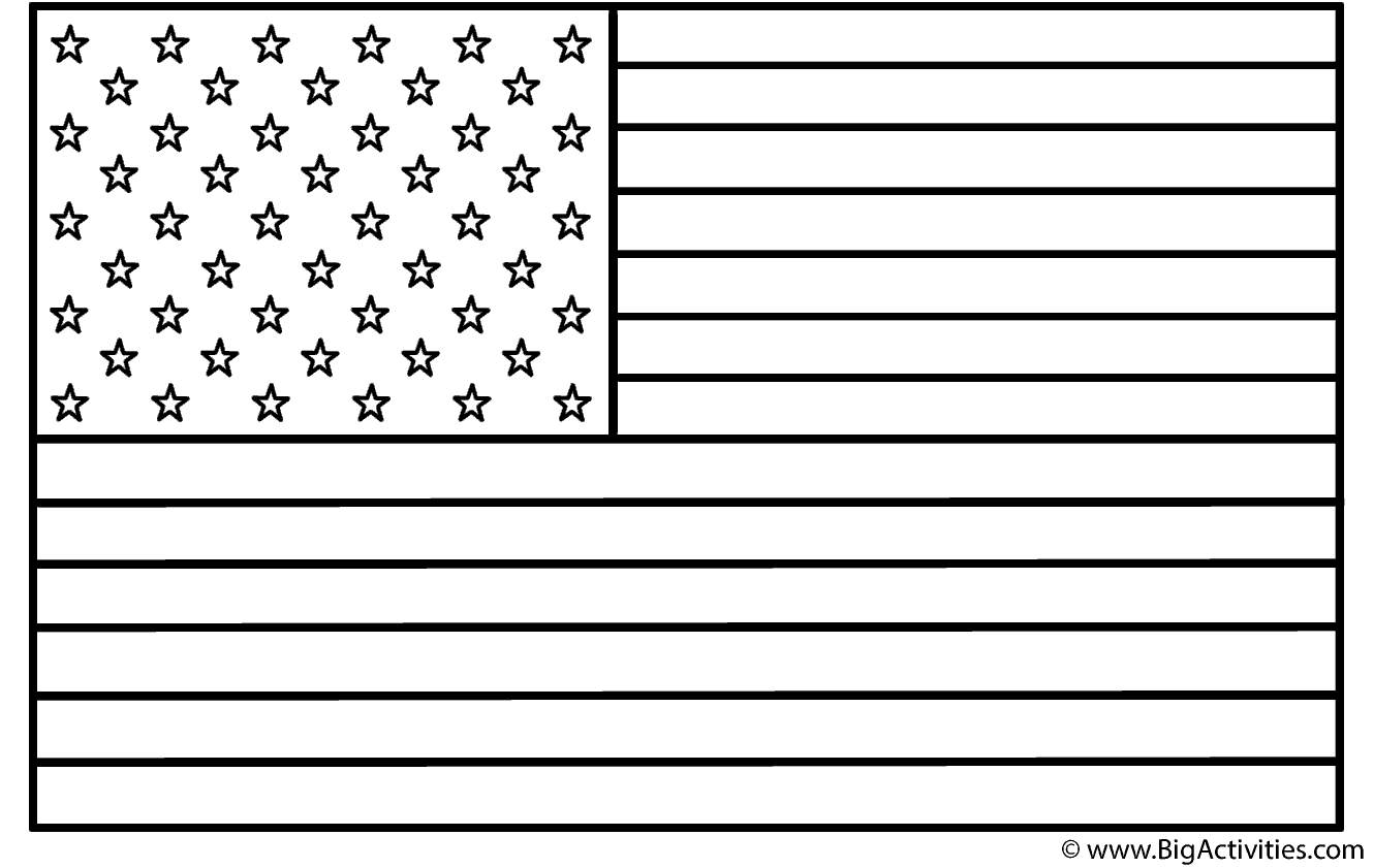 united states flag coloring page - american flag