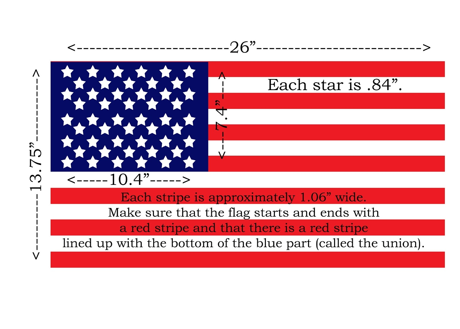 united states flag coloring page - american flag dimensions