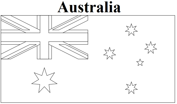 united states flag coloring page - australia flag coloring page