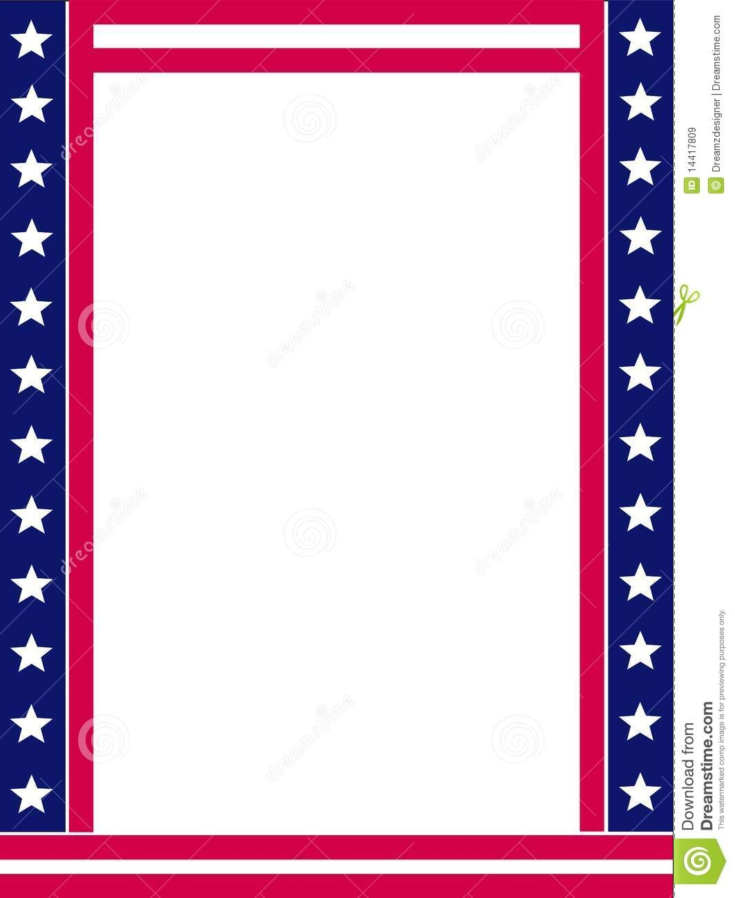 united states flag coloring page - royalty free stock images patriotic border image