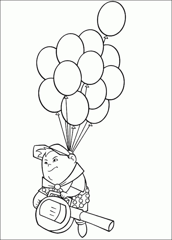 up coloring pages - pixar up russell coloring page