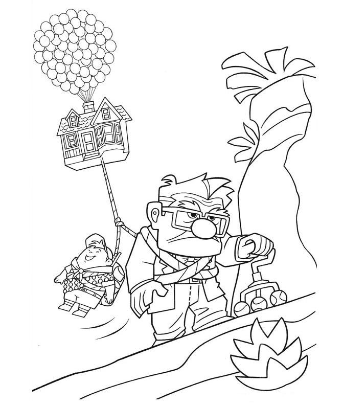 up coloring pages - up movie coloring pages