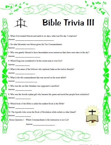 us map coloring page - bible trivia two