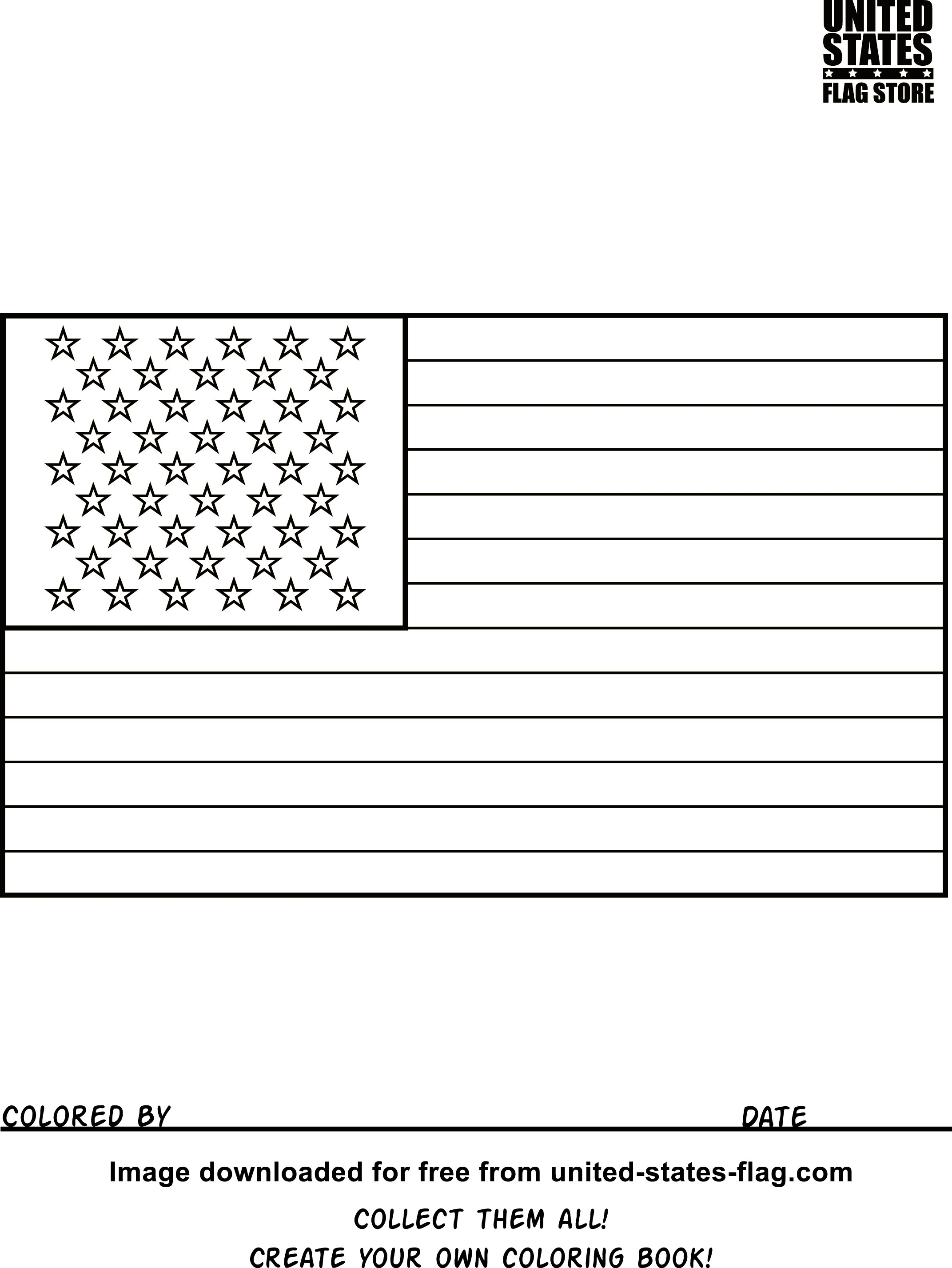 usa coloring pages - american flag coloring book