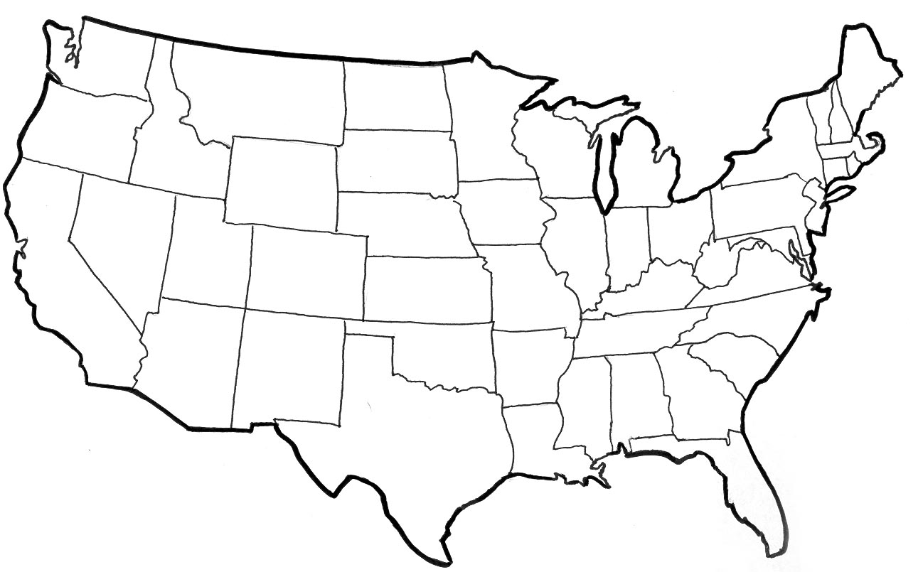 usa coloring pages - q=west usa map