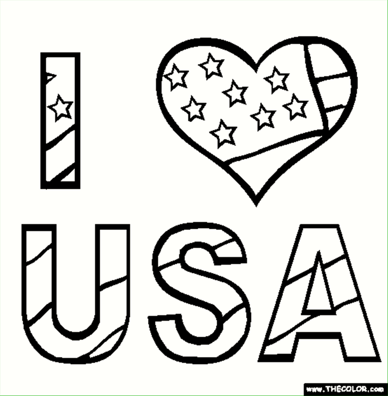 usa coloring pages - 7209