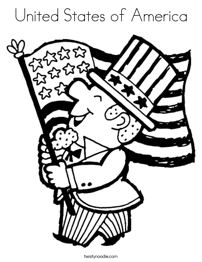 usa coloring pages - united states of america coloring page