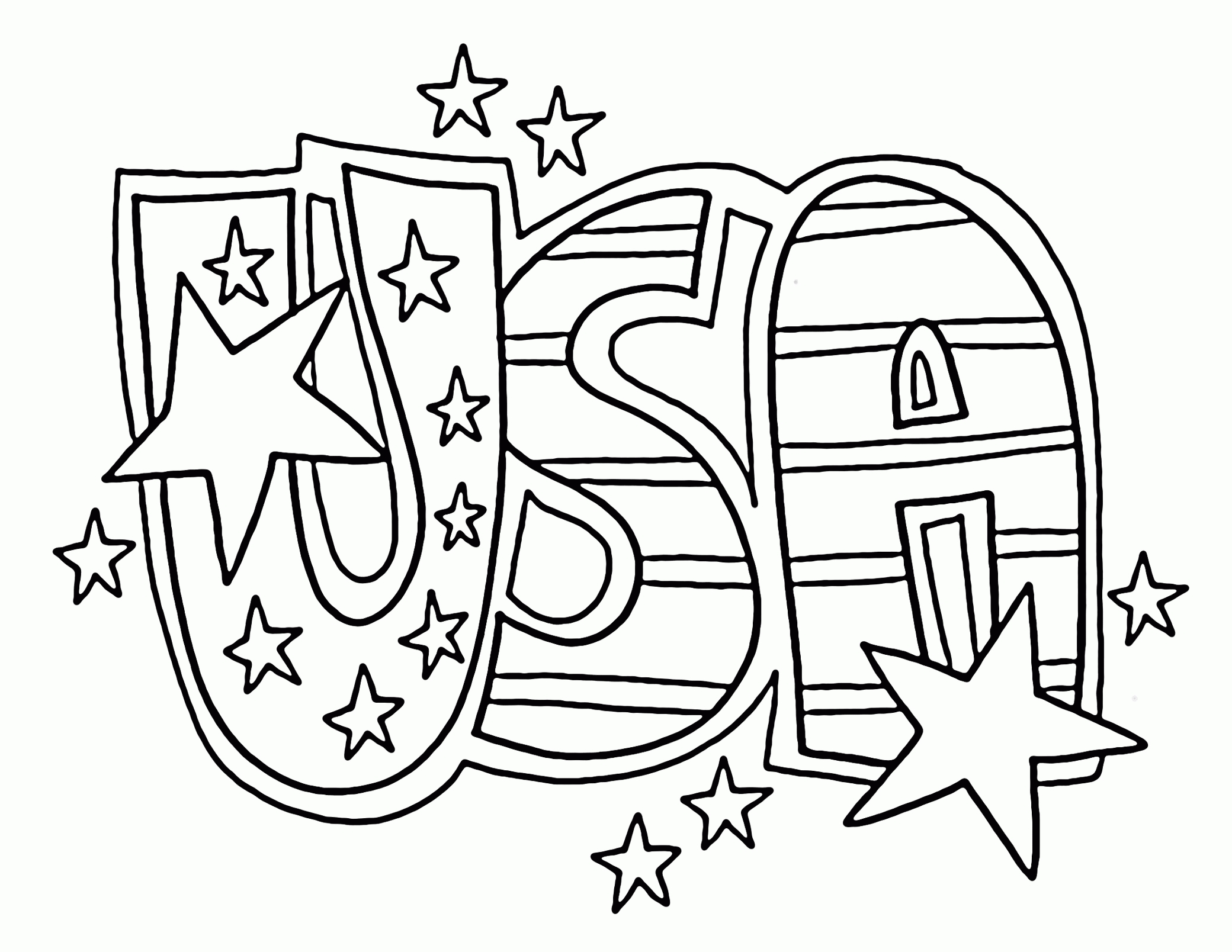 usa coloring pages - usa coloring page