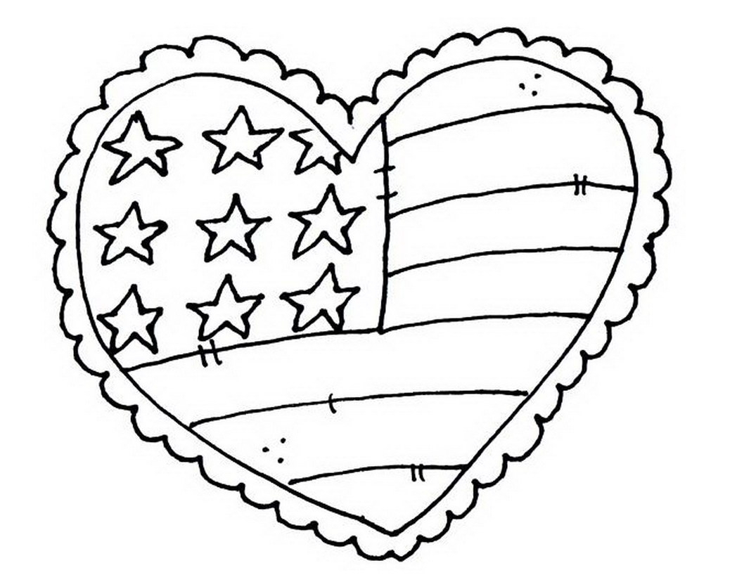 usa flag coloring page - patriotic coloring pages
