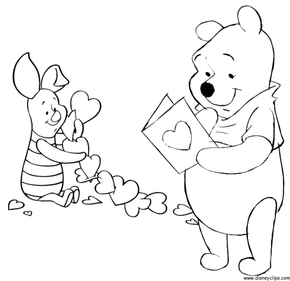 valentine coloring pages disney - valentines coloring pages disney with regard to encourage to color page