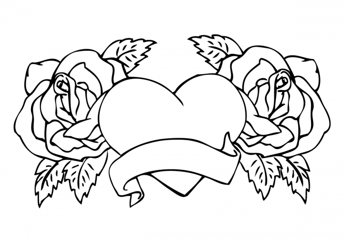 valentine coloring pages for adults - coloring pages of flowers and hearts