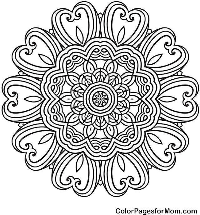 valentine coloring pages for adults - mandala43pf