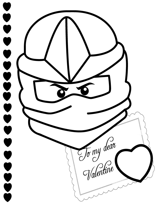 valentine coloring pages for adults - ninjago coloring page kai