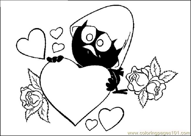 valentine coloring pages for adults - valentines day 04
