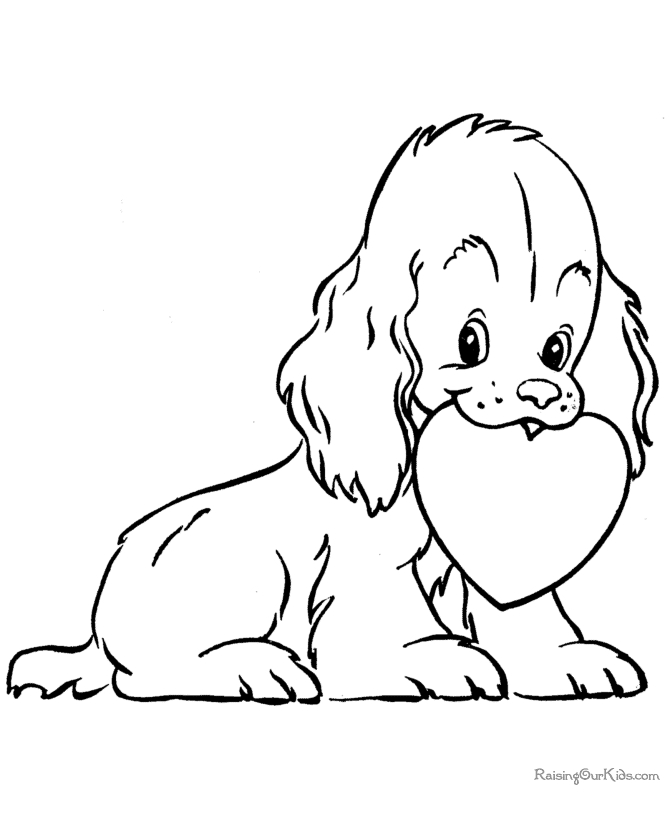 valentine coloring pages for preschool - 001 preschool valentine coloring pages
