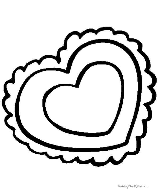 Valentine Coloring Pages for Preschool - Preschool Valentine Coloring Pages 015