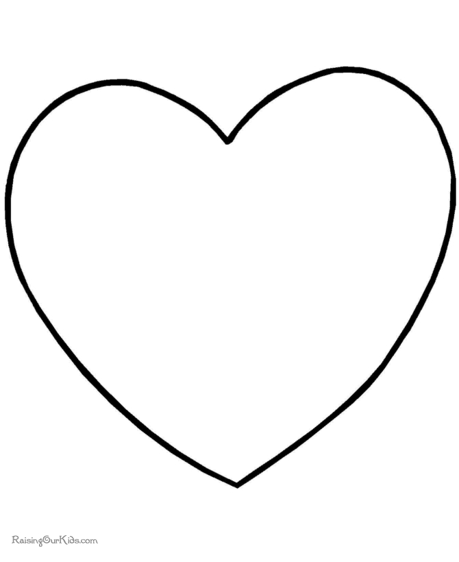 valentine coloring pages for preschool - 002 preschool valentine day coloring pages