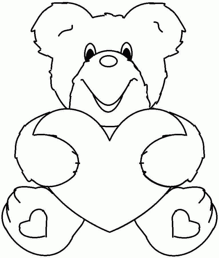 valentine coloring pages for preschool - valentine coloring pages kids