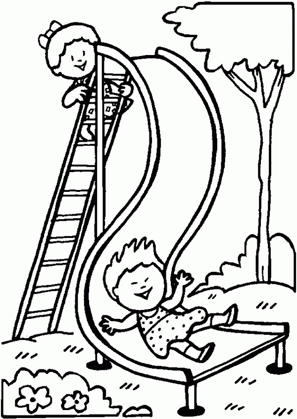valentine coloring pages to print - playground slide