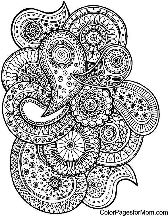 valentine heart coloring pages - paisley coloring pages