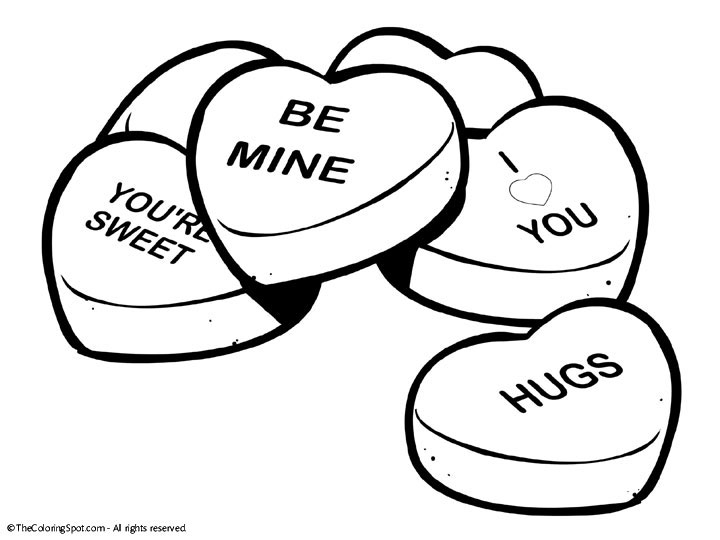valentine heart coloring pages - dibujos ones de corazon 5892