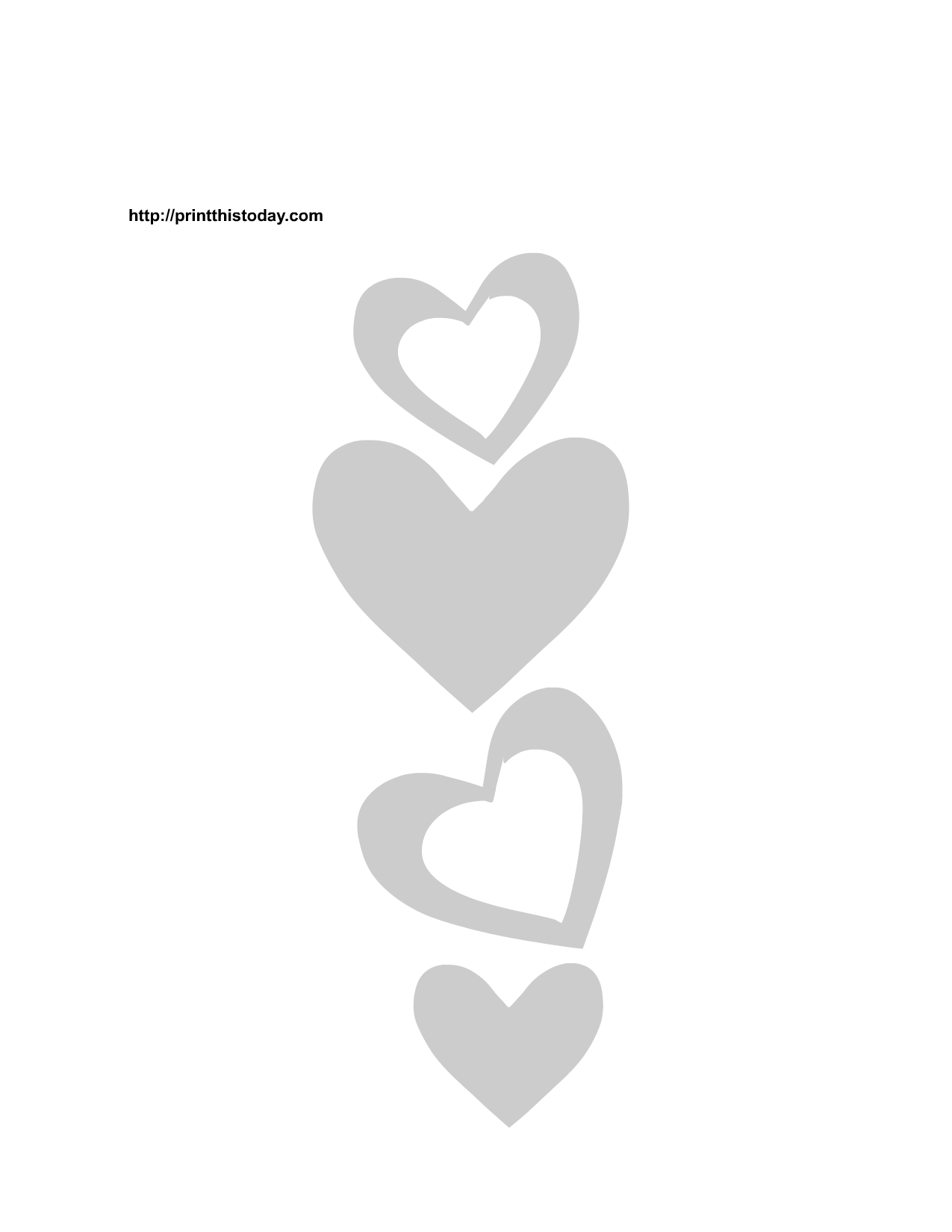 valentine heart coloring pages - free printable hearts stencils