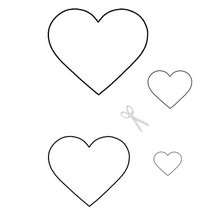 valentine heart coloring pages - valentine hearts stencils