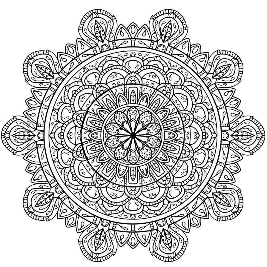 valentines day coloring pages for adults - Circles mandala 4