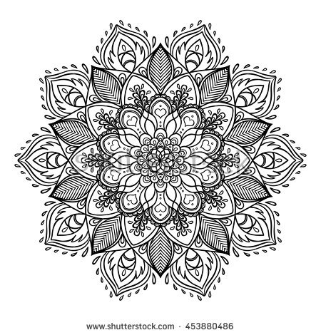 valentines day coloring pages for adults - outline mandala coloring book decorative round